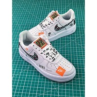 Nike Air Force 1 Af1 Low Custom Just Do It 905345 500 Sl Ys White Black Graffiti Sport Shoes Sale