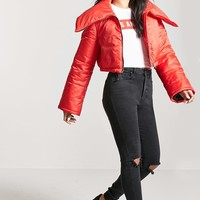 Foldover Puffer Jacket