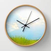 Sunny easter sunday Wall Clock by Pirmin Nohr