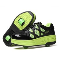 Double Wheel Roller Skates Heelys Shoe Invisible Skates Shoes Girl Boy Invisible Pulley Sneaker Roller Skates Sneakers Automatic