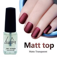 LULAA New 6ML Magic Super Matte Nail Polish Matt Top Coat Nail Lacquer Nails Frosted Surface Oil Manicure Art Tools Varnishes