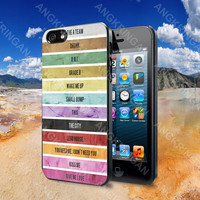 Ed Sheeran Music Tracklist - iPhone 4 4S iPhone 5 5S 5C and Samsung Galaxy S2 S3 S4 Case