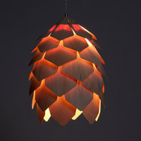 Crimean Pinecone lamp beech wood veneer size 6 by eekra on Etsy