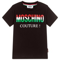 Boys Black Logo Couture T-shirt (Mini-Me)