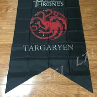 GAME OF THRONES Targaryen House cloth tapestry Posters Great New Banner Flag 3ft x 5ft