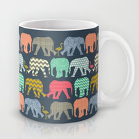 baby elephants and flamingos Mug by Sharon Turner | Society6 ~ FREE WORLDWIDE SHIPPING (at time of posting)