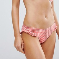 Floozie By Frost French Gingham Bikini Bottom at asos.com