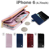 Dreamplus Zipper Wallet Diary Case for iPhone 6