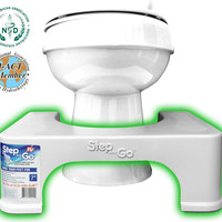 "Step and Go 7"" Toilet Step - Proper Toilet Posture for a More Comfortable and Healthier Results"
