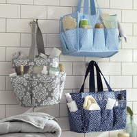 Mesh Shower Caddy Ikat Medallion
