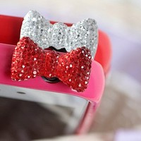 Crystal Bow Style Anti-Dust Earphone Jack for iPhone 4 and 4S  from 1Point99.com
