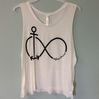 Copy of And Beyond Infinity Anchor Never Sink Top Neon Coral