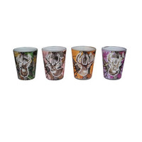 REP 4 Pack Camo/Deer Shot Glass