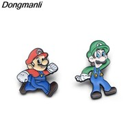 Super Mario party nes switch M1767 Dongmanli Games  Bros Enamel pin  brocches for shirt blouse jewelry accessories cute cartoon badge pins AT_80_8