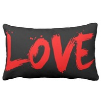 Black and Red Chic Fashion Love Decorative Pillow