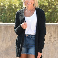Instant Crush Cardigan - Black