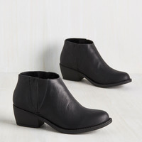The Quest Is Yet to Come Bootie in Black | Mod Retro Vintage Boots | ModCloth.com