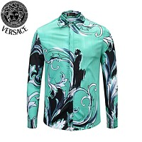 Versace new men's POLO shirt long-sleeved T-shirt