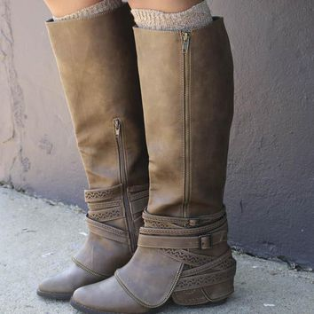 NOT RATED Tall Brown Boot