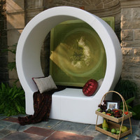 Modern Outdoor Seating   Pod Cricle Seating