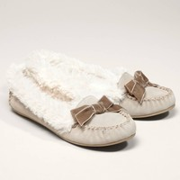 AEO Suede Bow Moccasin | American Eagle Outfitters