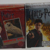 Harry Potter Hedwig Owl Cage Wizard Wand Golden Snitch Mega Mini Kits Book Set 3