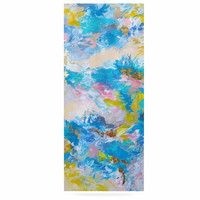 "Ebi Emporium ""When We Were Mermaids"" Blue Yellow Luxe Rectangle Panel"