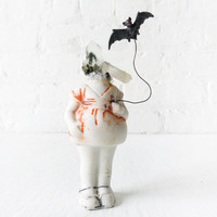 Batty Patty - Spooky Doll Girl - Phantom Quartz - Antique German Bisque Doll - Black Stained Coffin - Dismembered Enchantments