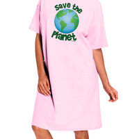 Save the Planet - Earth Adult Wear Around Night Shirt and Dress