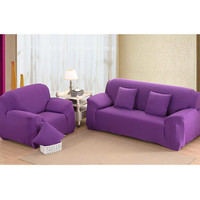 Drop Shipping Solid Color Soft All-inclusive Fabric Cover Sofa Slipcover Elastic Sofa Cover Couch Cover for 1/2/3/4 Seats