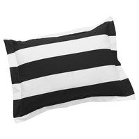 Cottage Stripe Sham, Standard, Black