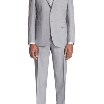 Classic Fit Houndstooth Wool Suit