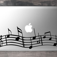 Musical Notes MacBook Decal