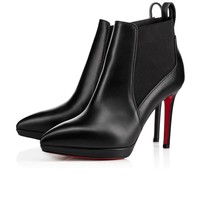 Christian Louboutin Cl Crochinetta Black Leather 18s Ankle Boots 1180268bk01 - Sale