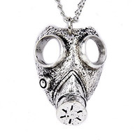 Israeli Gas Mask Necklace Gothic Apocalypse Design Jewelry
