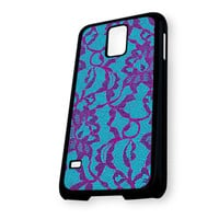 Black Lace on Mint Red Samsung Galaxy S5 Case