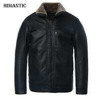Jacket men casual winter thicken warm leather jackets male parka mens jackets and coats winter down coat plus size 4XL