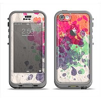The Vintage WaterColor Droplets Apple iPhone 5c LifeProof Nuud Case Skin Set