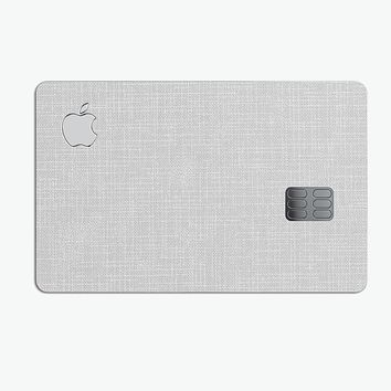 Scratched Gray Fabric Surface - Premium Protective Decal Skin-Kit for the Apple Credit Card