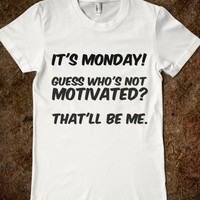 It's Monday-Female White T-Shirt