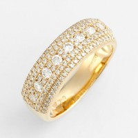 Women's Bony Levy Diamond Band Ring - Yellow Gold (Nordstrom Exclusive)