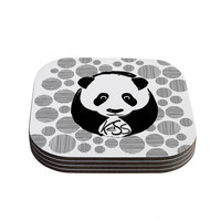 "KESS Original ""Panda"" Coasters (Set of 4)"