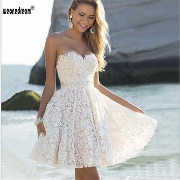 bridesmaid dresses 2017 short wedding clothes 95%polyester wearable bright flexible strapless printing wedding dress ball gown