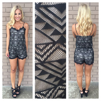 Walk Like An Egyptian Lace Romper