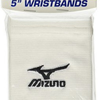 Mizuno Wristbands (5-Inch, White)