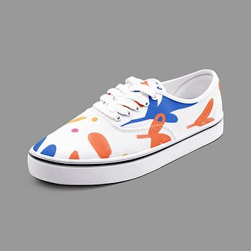 Abstract Leaf & Plant Unisex Canvas Shoes Fashion Low Cut Loafer Sneakers by The Photo Access
