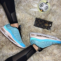 AIR MAX 97 NIKE  PLUS Fashion New Hook Sports Leisure Running Shoes Women Blue