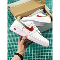 Nike Air Force 1 07 Leather White Rainbow Sport Shoes