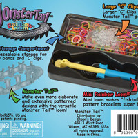 Rainbow Loom Monster Tail Kit with C Clips, 600 Rubber Bands, and Hook