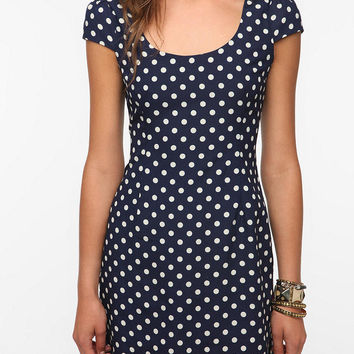 Urban Outfitters - Coincidence & Chance Silky Polka Dot Dress